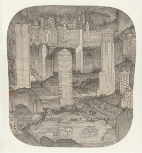 Xu Jianguo-Reconstructing New Shanghai ink version 徐健国-申城新瑞图水墨本