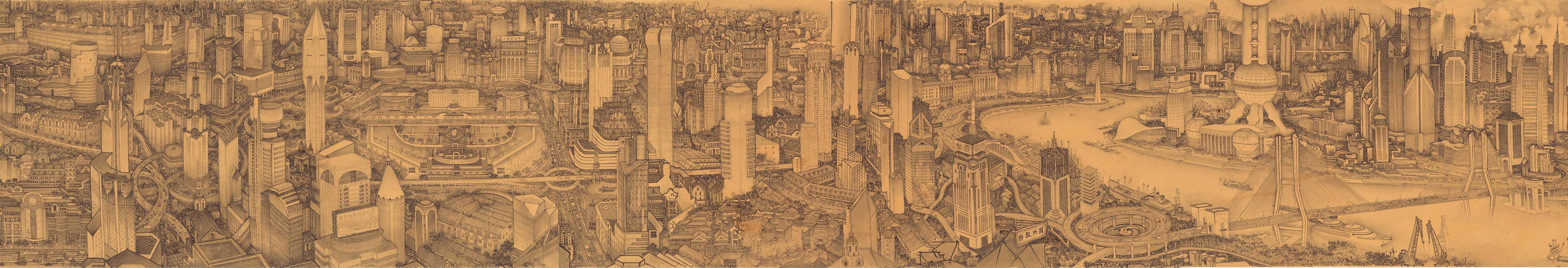 New Vista of Shanghai- ink-2